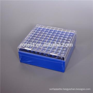 cryo tube/racks/cryo boxes used in freezer