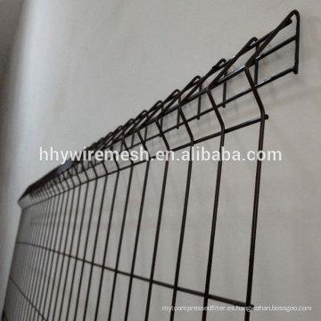 pintado en polvo soldado de la valla del panel de la fabricación soldado de alambre valla de la exportación Japón soldado valla