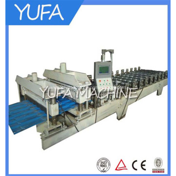 European standard glazed roof tile roll forming machine