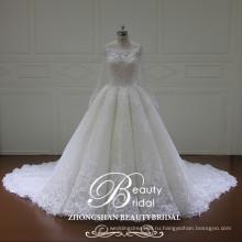 Мерцающий высокое качество длиной до зеледеево бальное платье свадебное платье