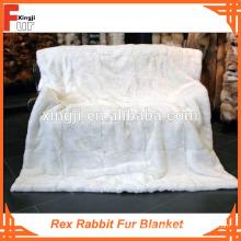 Pelzdecke, echte Pelz Rex Rabbit Fur Blanket