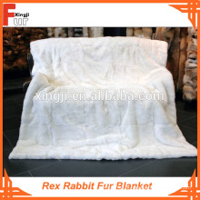 Couverture en fourrure, vraie fourrure Rex Rabbit Fur Blanket