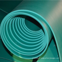 Feuille en caoutchouc isolée par vert de prix de Favtory avec l'épaisseur de 4mm