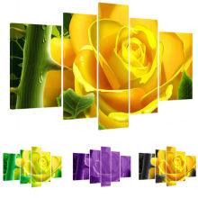 Impressão realista moderno da lona do projeto da flor