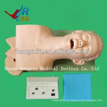 Simulación de intubación traqueal eléctrica (maniquíes médicos)