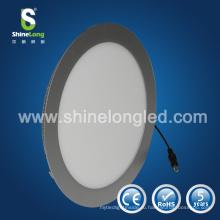 Серебристой отделкой/белый 10Вт 12вт 15Вт 18вт 20Вт обод панели Сид круглый