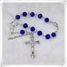 Glass Beads Decade Rosary with Cross (IO-ce082)