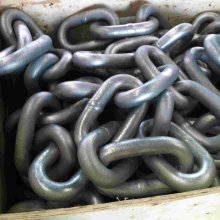 Standard Black Painting Anchor Chain Without Stud Link