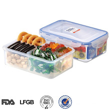 plastic compartment food storage container box