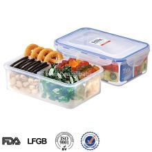 caixa de recipiente de armazenamento de alimentos compartimento de plástico