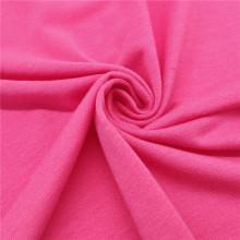Yoga Sports Shirt en gros Rose Red Stretch Fabric