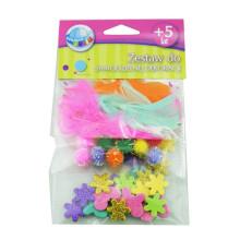 diy craft accessories Feather kids diy handmade pompom