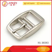 Fournitures de quincaillerie en alliage de zinc boucle de ceinture en métal personnalisé
