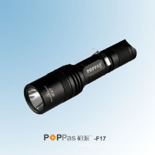 Portable 400lumens CREE Xm-L U2 Brightest Tactical LED Flashlight (POPPAS-F17)