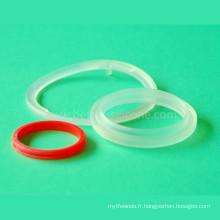 Rondelle de cachetage collée en caoutchouc de silicone en plastique en métal de Overmolding
