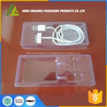 Bandeja de plástico desechable para componentes electrónicos