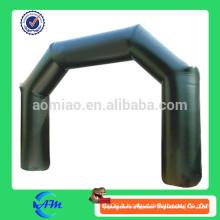 Belle arche publicitaire gonflable de couleur noire, arc gonflable bon marché, arches gonflables