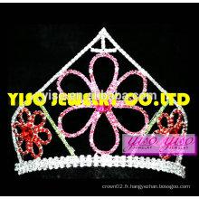 Coffres de la couronne de vente chaude belle tiare fleur de cristal