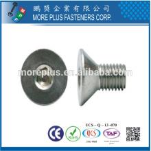 Hecho en Taiwán DIN7991 M6X20 Tornillos de cabeza de cabeza avellanada de acero inoxidable