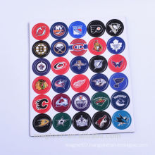 custom popular rugby team flag design mini die cut round EVA rubber fridge magnet stickers