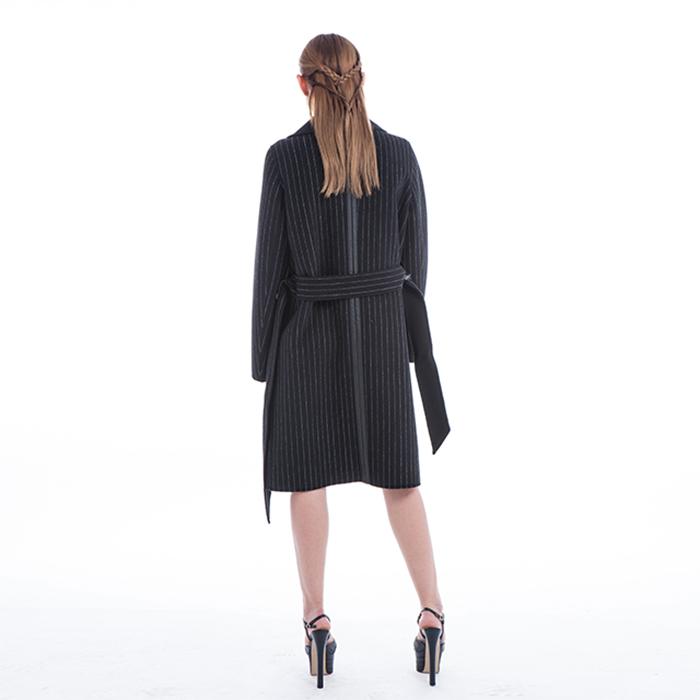 Fashionable Stripe Winter Outwear