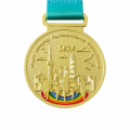 Silver die cast running game finisher medal