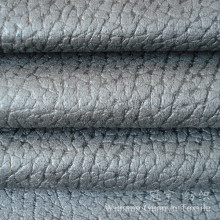 Micro Suede 100% Polyester Embossed Leather Fabric for Home