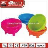 Wholesale custom mold plastic fruit mixing bowl custom cute shape salad bowl