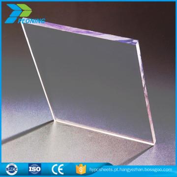 Revestimento Uv de plástico 4mm parede gêmea baixa folha de telhado de policarbonato sólido