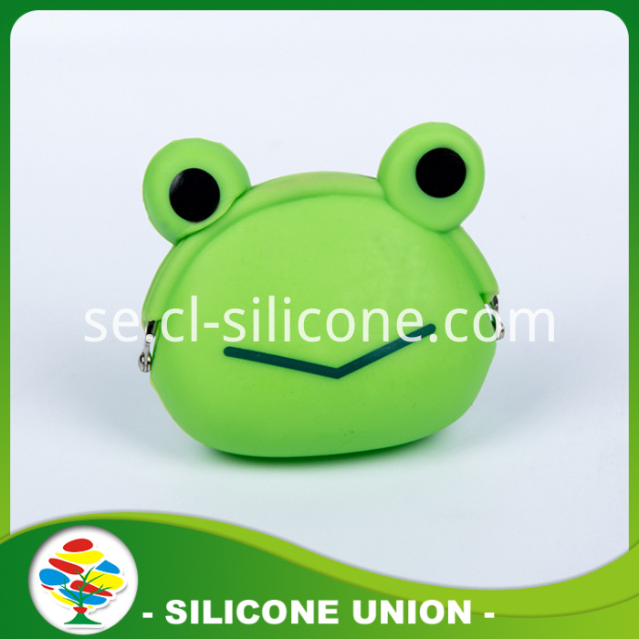 Silicone Coin Purse With Green Frog