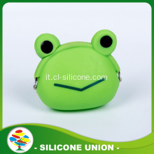 Eco-friendly Green Frog Bicchierino di monete animale del silicone