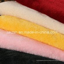 Poliéster Weft Dyeing Beiji Veludo Tecido para Roupas / Brinquedos