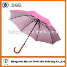 Stick geschnitzten Holzgriff Regenschirm für Erwachsene
