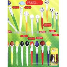 bolígrafo plástico, pluma de bola de golf, golf pluma (pluma de bola de la promoción)