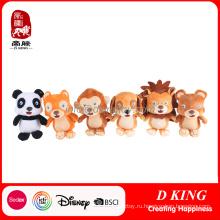 Пользовательские мультфильм животных набор игрушек для детей мягкие игрушки продвижение