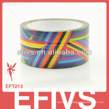 Promotional colorful rainbow stripe duct tapes