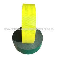 ПВХ+Пэт желтый и зеленый светоотражающие ленты для безопасности дорожного движения