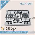 Cuisinière à gaz à 4 brûleurs en acier inoxydable avec dispositif de sécurité