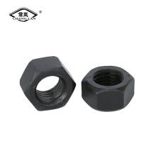 Écrou hexagonal en acier au carbone DIN934 fini noir