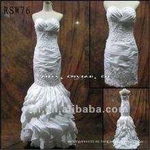 RSW76 Vestido de boda de lujo del tafetán que rebordea del envío libre