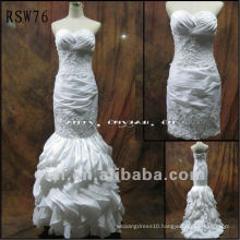RSW76 Free Shipping Luxurious Beading Taffeta Wedding Dress
