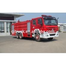 Camión de la lucha contra el fuego del tanque de agua de SINOTRUK HOWO 4 * 2