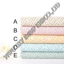 Design de pontos multicolor para tecido impresso de poliéster de mercado europeu