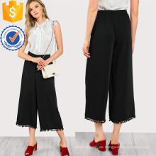 Ball Trim Flowy Hosen Herstellung Großhandel Mode Frauen Bekleidung (TA3098P)