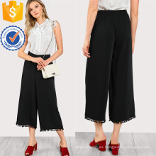 Ball Trim Flowy Pants Manufacture Wholesale Fashion Women Apparel (TA3098P)