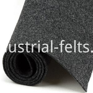 Black flame retardant felt 1