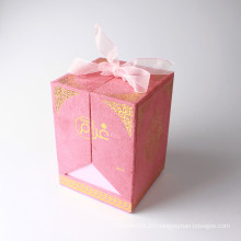 Fancy design skin care cosmetic paper case gift box