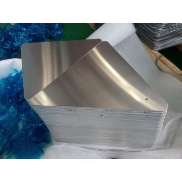Trous pré-percés et coins de rayon Triangle Aluminum Sign Blanks