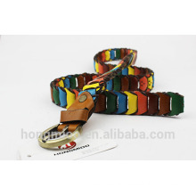Novel in design fabric belt splicing