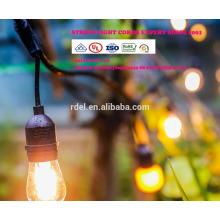 As luzes da corda LST-184 com bulbos claros, UL alistaram luzes do pátio do quintal, pendurando luz da corda interna / exterior